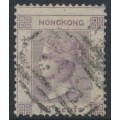 HONG KONG - 1862 18c lilac Queen Victoria, no watermark, used – SG # 4
