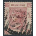 HONG KONG - 1882 2c rose-lake QV, crown CA watermark – 'S1' cancel = Shanghai, China