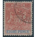 RHODESIA - 1892 8d red/ultramarine British South Africa Company, used – SG # 24