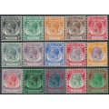 STRAITS SETTLEMENTS - 1936 1c to $5 KGV Definitives set of 15, mint hinged – SG # 260-274
