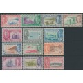 CAYMAN ISLANDS - 1950 ¼d to 10/- Island Scenes & Wildlife set of 13, mint hinged – SG # 135-147