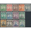 SOUTHERN RHODESIA - 1937 ½d to 5/- King George VI definitives set of 13, used – SG # 40-52