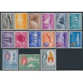 SINGAPORE - 1955 1c to $5 Boats QEII Definitives set of 15, mint hinged – SG # 38-52