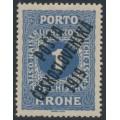 CZECHOSLOVAKIA - 1919 1Kr blue Postage Due, overprinted P.Č. 1919, MH - Michel # 89
