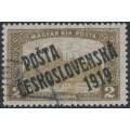 CZECHOSLOVAKIA - 1919 2Kr brown/pale brown Parliament, overprinted P.Č. 1919, used- Michel # 134