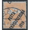 CZECHOSLOVAKIA - 1919 3f orange Turul, overprinted P.Č. 1919, MH - Mi. # 106