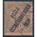 CZECHOSLOVAKIA - 1919 60f olive-green on rose Turul, overprinted P.Č. 1919, MH - Mi. # 109