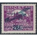 CZECHOSLOVAKIA - 1920 28Kč Airmail on 1000H violet-purple Hradčany, perf. 13¾:13½, MNH – Michel # 194C