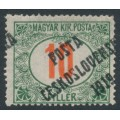 CZECHOSLOVAKIA - 1919 10f green/red Postage Due, misplaced overprinted P.Č. 1919, MH - Michel # 154