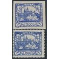 CZECHOSLOVAKIA - 1918 200H violet-blue Hradčany, imperforate, MH – Michel # 9b
