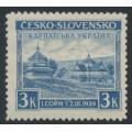 CZECHOSLOVAKIA - 1939 3K violet-blue Carpatho-Ukraine issue, MNH – Michel # 1