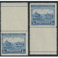 CZECHOSLOVAKIA - 1939 3K violet-blue Carpatho-Ukraine issue with tabs, MH – Michel # 1Lf