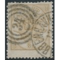 DENMARK - 1868 8Sk yellow-brown Crown in Oval, used – Facit # 14b