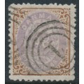 DENMARK - 1870 48Sk lilac/brown Numeral, perf. 12½:12½, used – Facit # 27