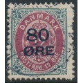 DENMARK - 1915 80øre on 12øre red-lilac/grey Numeral, used – Facit # 49