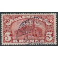 DENMARK - 1912 5Kr brown-red Copenhagen GPO with crowns watermark, used – Facit # 120