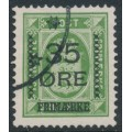DENMARK - 1912 35øre on 32øre green Official, used – Facit # 122