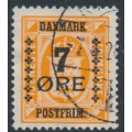 DENMARK - 1926 7øre on 1øre orange Official, used – Facit # 124