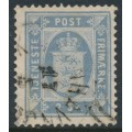 DENMARK - 1871 2Sk dull blue Official (Tjenstemærke), perf. 14:13½, used – Facit # TJ1b