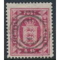 DENMARK - 1871 4Sk carmine-rose Official (Tjenstemærke), perf. 14:13½, used – Facit # TJ2a
