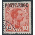 DENMARK - 1919 10øre red King Christian X with POSTFÆRGE overprint, used – Facit # PF1