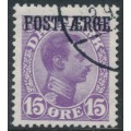 DENMARK - 1919 15øre violet-lilac King Christian X with POSTFÆRGE overprint, used – Facit # PF2a