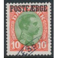 DENMARK - 1930 10Kr red/green King Christian X with POSTFÆRGE overprint, used – Facit # PF9