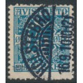 DENMARK - 1907 5øre greenish blue Newspaper Stamp (Avisporto), used – Facit # TI2b