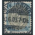 DENMARK - 1902 3øre blue/grey Numeral, perf. 12¾, 3rd crown watermark, used – Facit # 38b