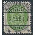 DENMARK - 1902 25øre grey/green Numeral, perf. 12¾, 3rd crown watermark, used – Facit # 43b