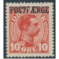 DENMARK - 1919 10øre red King Christian X with POSTFÆRGE overprint, MNH – Facit # PF1