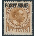 DENMARK - 1919 1Kr brown King Christian X with POSTFÆRGE overprint, MH – Facit # PF10
