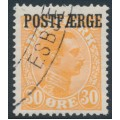 DENMARK - 1922 30øre orange King Christian X with POSTFÆRGE overprint, used – Facit # PF3