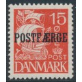 DENMARK - 1927 15øre red Caravelle (solid background) with POSTFÆRGE overprint, MH – Facit # PF23