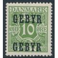 DENMARK - 1923 10øre green Postage Due, overprinted GEBYR, MNH – Facit # GB1