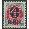 DENMARK - 1912 4øre on 8øre red/grey Numeral (2nd crown watermark), MNH – Facit # 46b