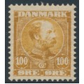 DENMARK - 1905 100øre yellow-brown King Christian X, MNH – Facit # 68