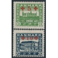 DENMARK - 1921 Red Cross charity overprints set of 2, MH – Facit # 199-200