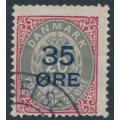 DENMARK - 1912 35øre on 20øre carmine/grey Numeral, used – Facit # 48