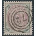 DENMARK - 1871 3Sk lilac/grey Numeral, perf. 14:13½, used – Facit # 21b