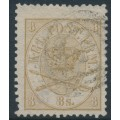 DENMARK - 1868 8Sk yellow-brown Crown, perf. 13:12½, used – Facit # 14b