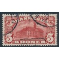 DENMARK - 1912 5Kr brown-red Copenhagen GPO with crown watermarks, used – Facit # 120