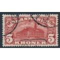 DENMARK - 1912 5Kr brown-red Copenhagen GPO with crown watermarks, used – Facit # 120