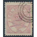 DENMARK - 1865 3Sk lilac-rose Crown, perf. 13:12½, used – Facit # 12c