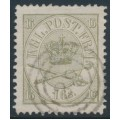 DENMARK - 1864 16Sk olive-grey Crown, perf. 13:12½, used – Facit # 15b