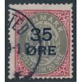 DENMARK - 1912 35øre on 20øre carmine/grey Numeral, used – Facit # 48