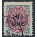 DENMARK - 1915 80øre on 12øre red/grey Numeral, used – Facit # 49