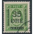 DENMARK - 1912 35øre on 32øre green Official, used – Facit # 122