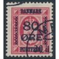 DENMARK - 1915 80øre on 8øre carmine-red Official, used – Facit # 123