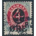 DENMARK - 1912 4øre on 8øre red/grey Numeral (2nd crown watermark), used – Facit # 46b